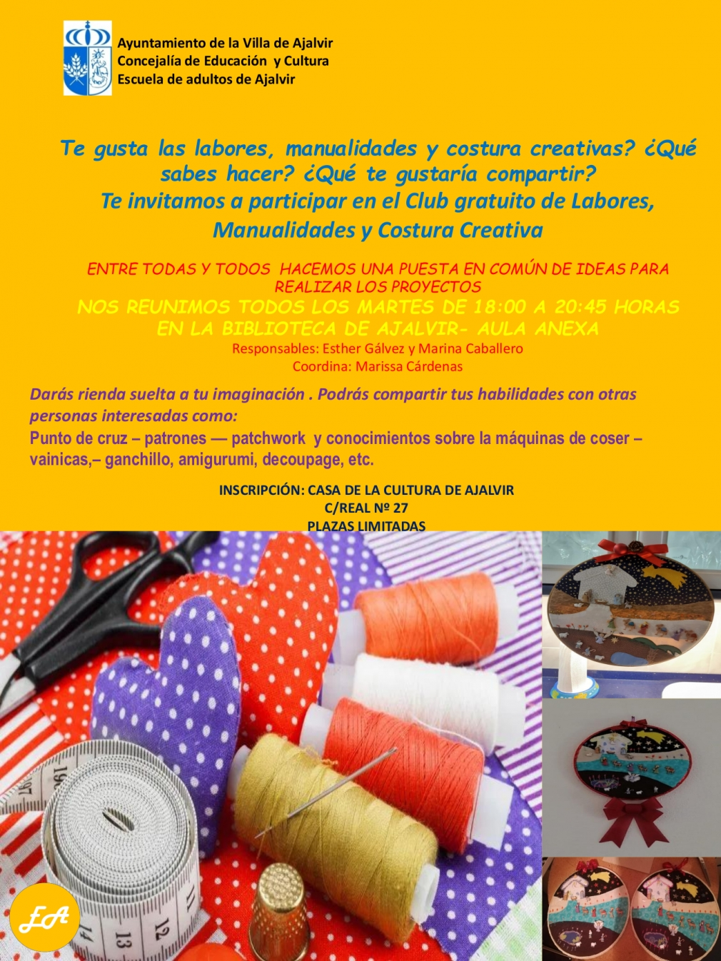 CLUB MANUALIDADES, COSTURA Y LABORES CREATIVAS