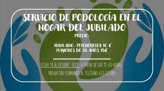 SERVICIO DE PODOLOGÍA EN EL HOGAR DEL JUBILADO