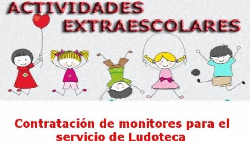 Contratación de monitores para el servicio de Ludoteca