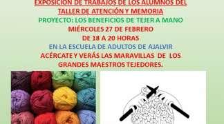 """Exposición """"Los beneficios de tejer a mano"""". Miércoles 27 de Febrero"""