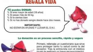 Campaña de donación de sangre. Jueves 18 de Abril