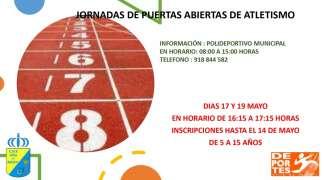 JORNADAS PUERTAS ABIERTAS DE ATLETISMO