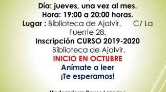 CLUB DEL LIBRO MES DE OCTUBRE 2019