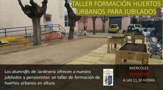 TALLER HUERTOS URBANOS EN ALTURA EN EL HOGAR DEL JUBILADO
