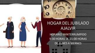 HORARIO HOGAR DEL JUBILADO DE AJALVIR