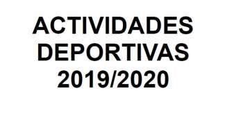 Actividades deportivas 2019