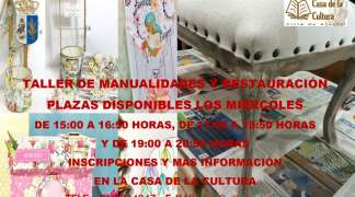 TALLER DE MANUALIDADES Y RESTAURACIÓN PARA ADULTOS