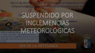 MERCADILLO ARTESANAL SUSPENDIDO
