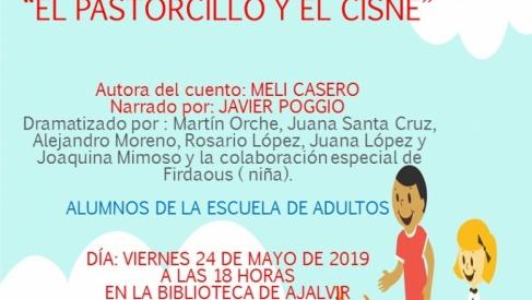 """Cuentacuentos en la Biblioteca Municipal. """"El pastorcillo y el cisne"""" Viernes 24 de Mayo"""