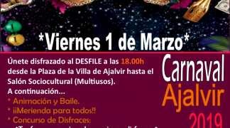 Fiesta de Carnaval en Ajalvir. Viernes 1 de Marzo