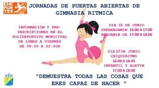JORNADAS DE PUERTAS ABIERTAS DE GIMNASIA RITMICA